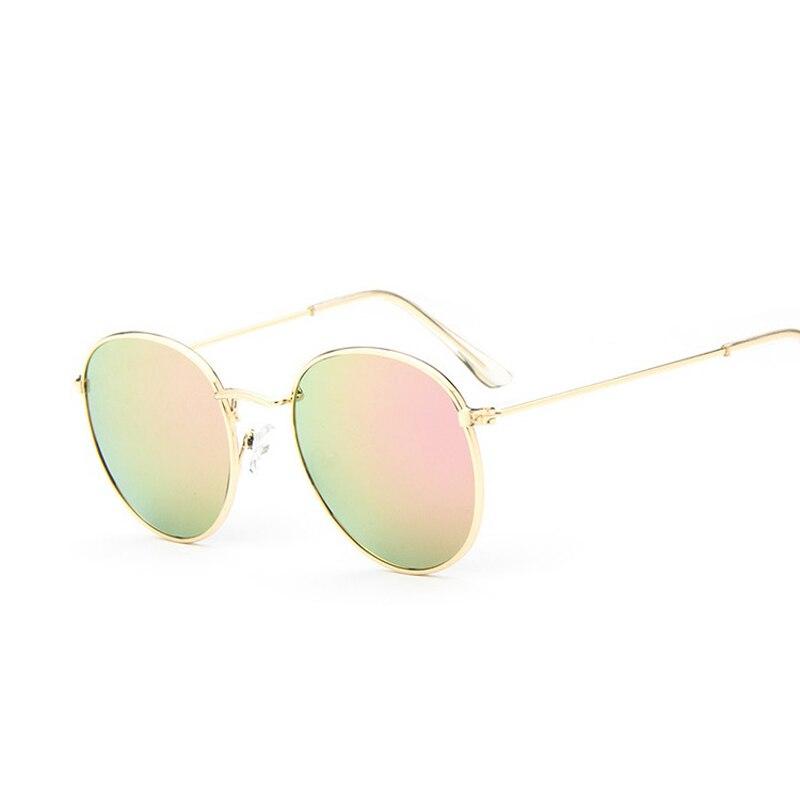 2016 retro round sunglasses women men brand designer sun glasses for women alloy mirror sunglasses ray