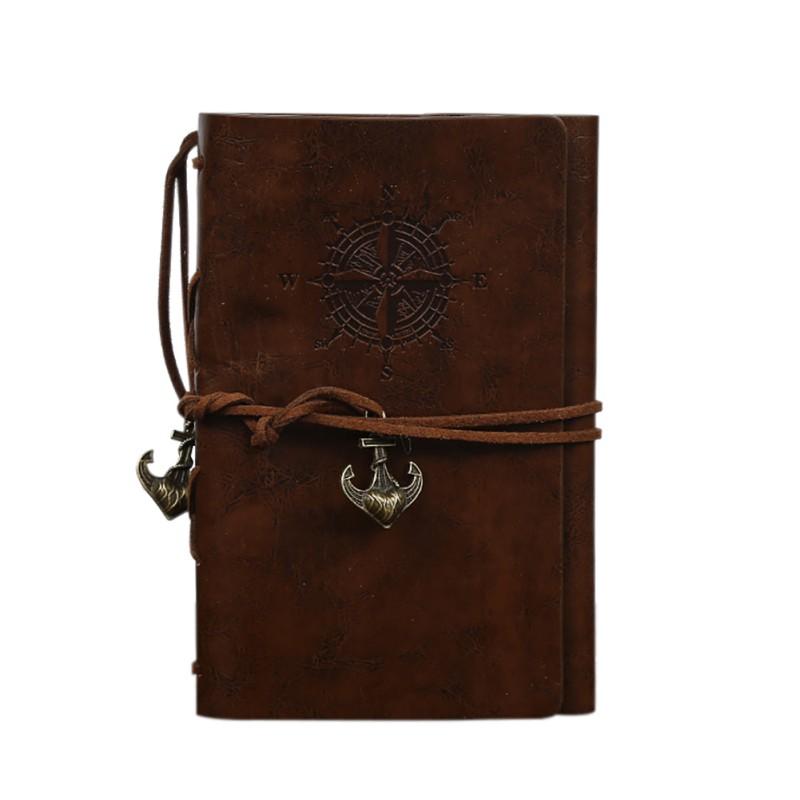 1Pcs PU Leather Note Book Spiral Notebook Diary Notepad Vintage Pirate Anchors Replaceable Stationery Gift Traveler Journal1Pcs PU Leather Note Book Spiral Notebook Diary Notepad Vintage Pirate Anchors Replaceable Stationery Gift Traveler Journal