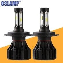 Oslamp T5 H4 светодиодный фар H7 H11 H1 H3 УДАРА фишек 8000lm 72 w 6500 K автомобилей спереди лампы погружения дальнего света Противотуманные лампы все-в-одном DC 12 V