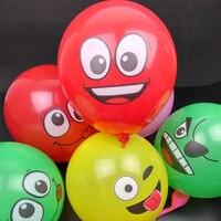 100 Adet/grup 12 inç Emoji Emoji Parti Malzemeleri Balonlar Gülen Yüz Ifadesi Parti Balonlar Olay Gülen Balon Parti Düğün