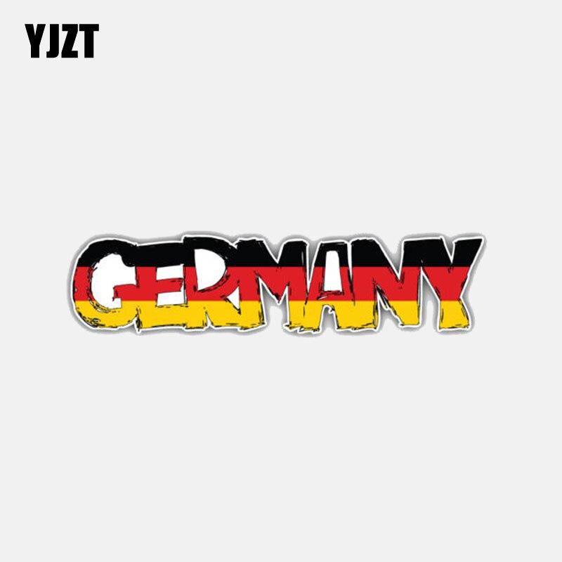 YJZT 12,4 см * 3,1 см наклейка на автомобильный мотоциклетный шлем с флагом Германии слоган автомобильные наклейки аксессуары 6-3030