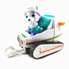 Genuine Paw Patrol Dog Everest Puppy Pull Back Music Car Patrulla Canina Toy PVC Doll Action Figure Model Gift