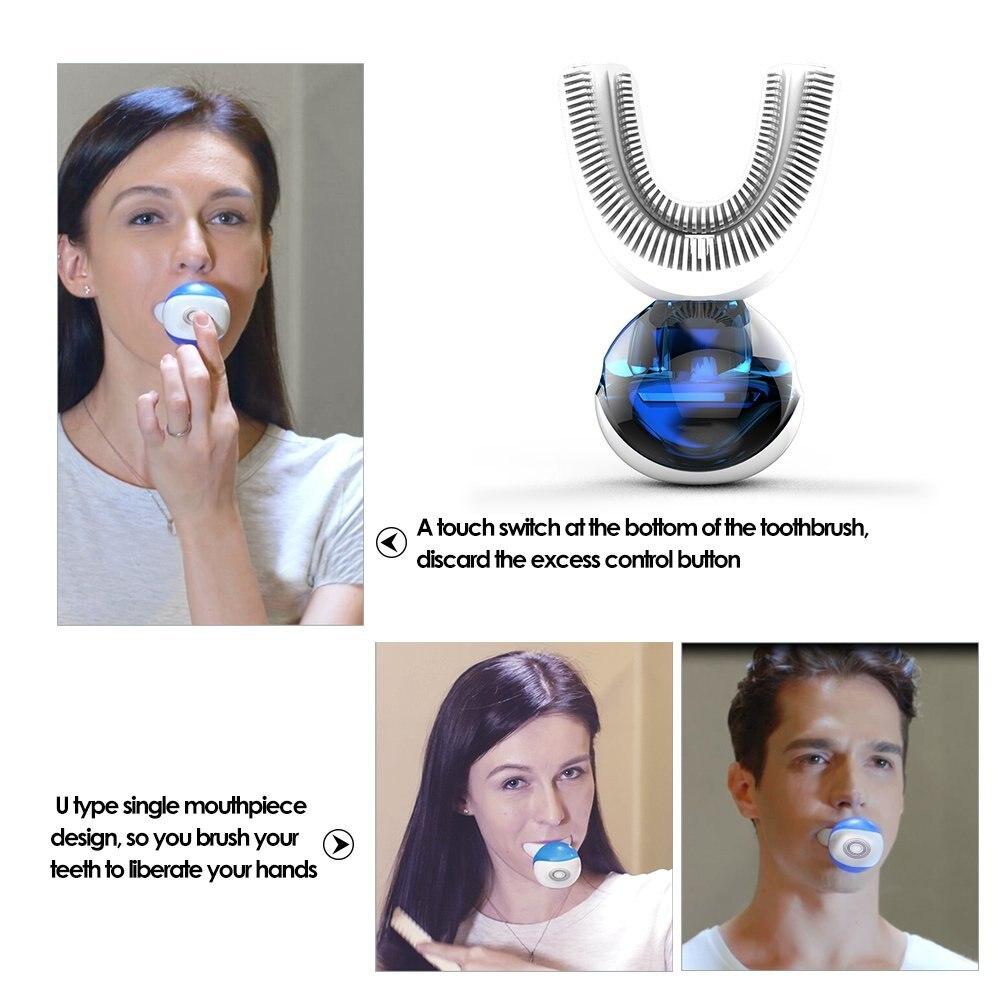 30 s ленивый нержавеющей Технология Электрический Зубная щётка автоматический Зубная щётка в полости Spa с U Тип головка щетки H7