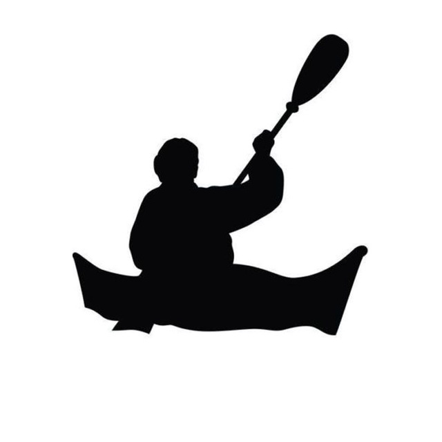 143145CM Kayaking Silhouette Cartoon Car Decals I Love The Outdoors Reflective Vinyl Stickers