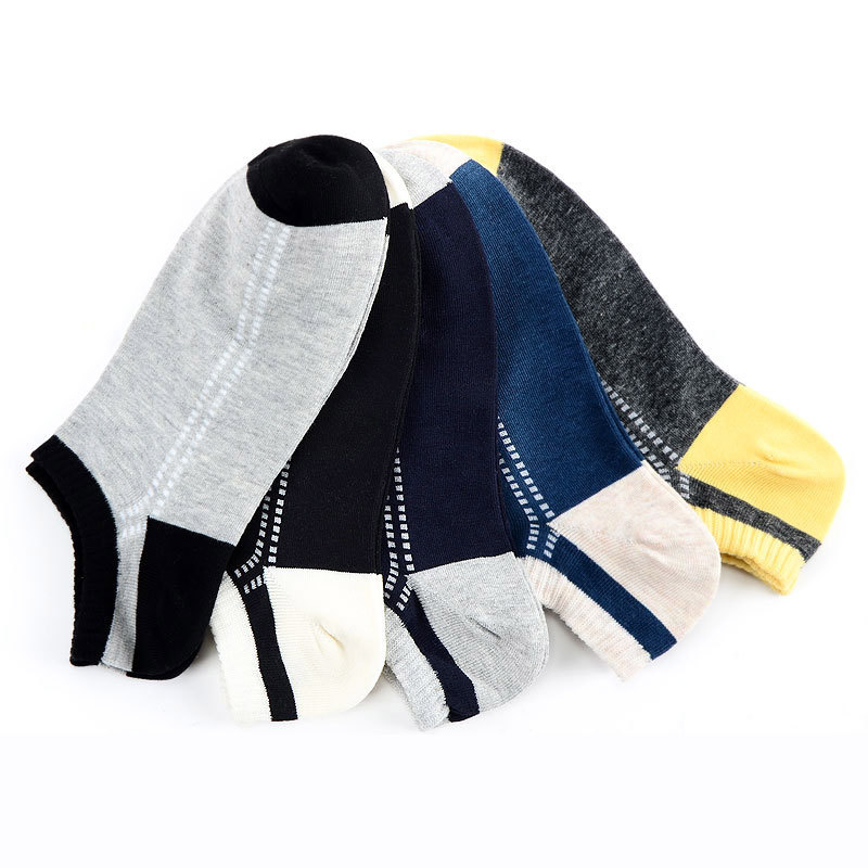 5 Pairs Men Deodorant Socks Striped Letter Funny Socks Summer Autumn Breathable Excellent Quality Male Cotton Sock Calcetines