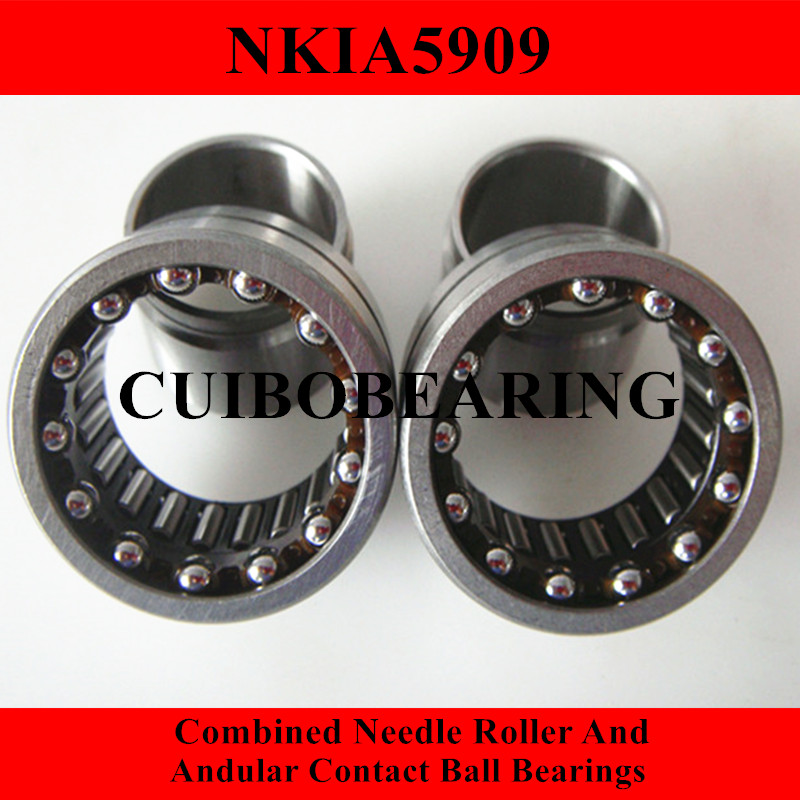 NKIA  Combined Needle Roller And Angular Contact Ball Bearing NKIA5909 45X68X30 0 25mm 540 needle skin maintenance painless micro needle therapy roller black red