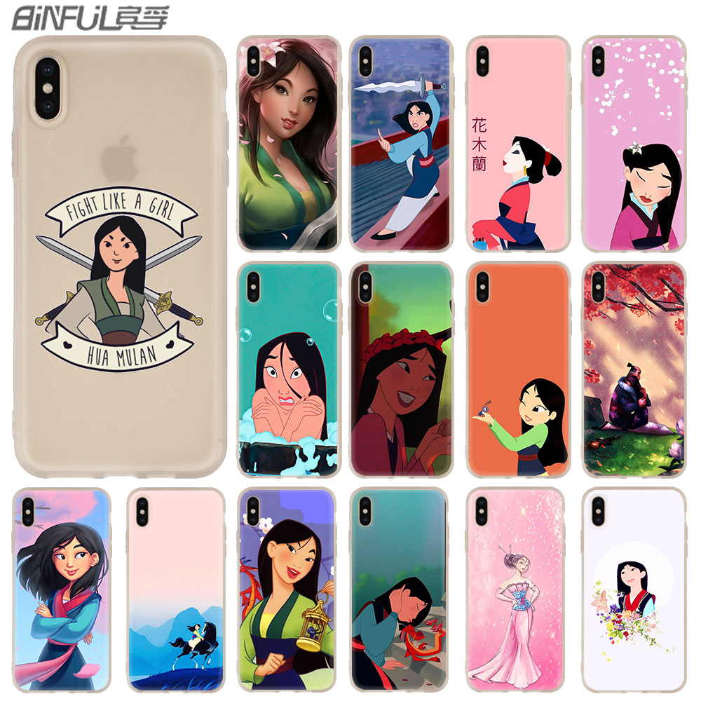 Cartoon Hua MuLAN Case for iphone XS 11 Pro Max XR X 10 Cover Phone Cases for iphone 7 8 plus 6s 5 4s(China)