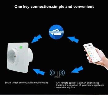 Presa Controllata Da App | DE Presa EU Smart Plug Wifi Alexa Google Casa On-Line Elettrico Monitor Di Controllo Del Timer APP Di Controllo Di Automazione Domestica