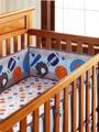 Ensemble de literie 5 pièces pour bébé garçon | Ensemble de berceau de Sport  avec drap de protection  berco (4 pare-chocs + housse de lit)