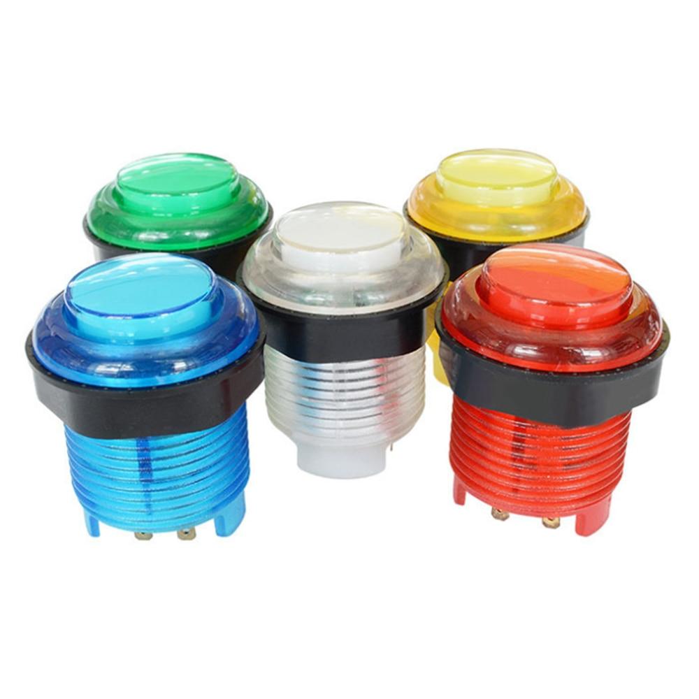 1 шт. 28 мм 24 мм Светодиодная аркадная кнопка старт Аркады кнопочный переключатель 5 В с подсветкой аксессуары для аркадных шкафов
