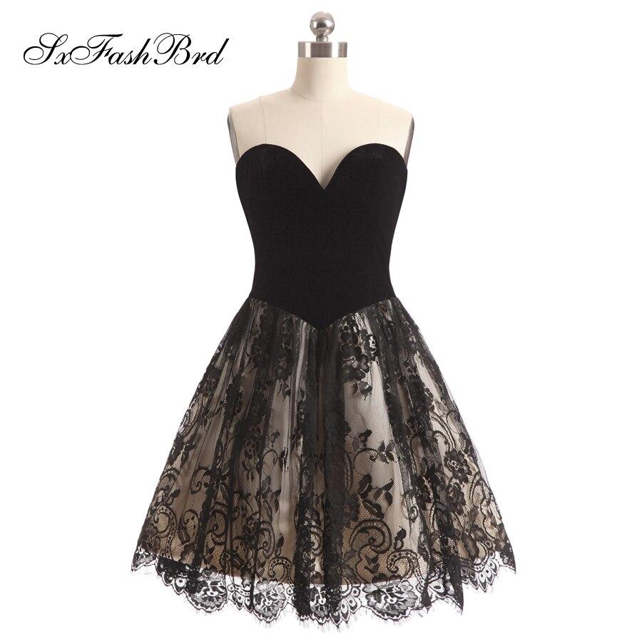Vestido De Festa Sweetheart A Line Mini Short Lace Elegant Evening   Dress   Party   Prom     Dresses   for Girls Robe Longue