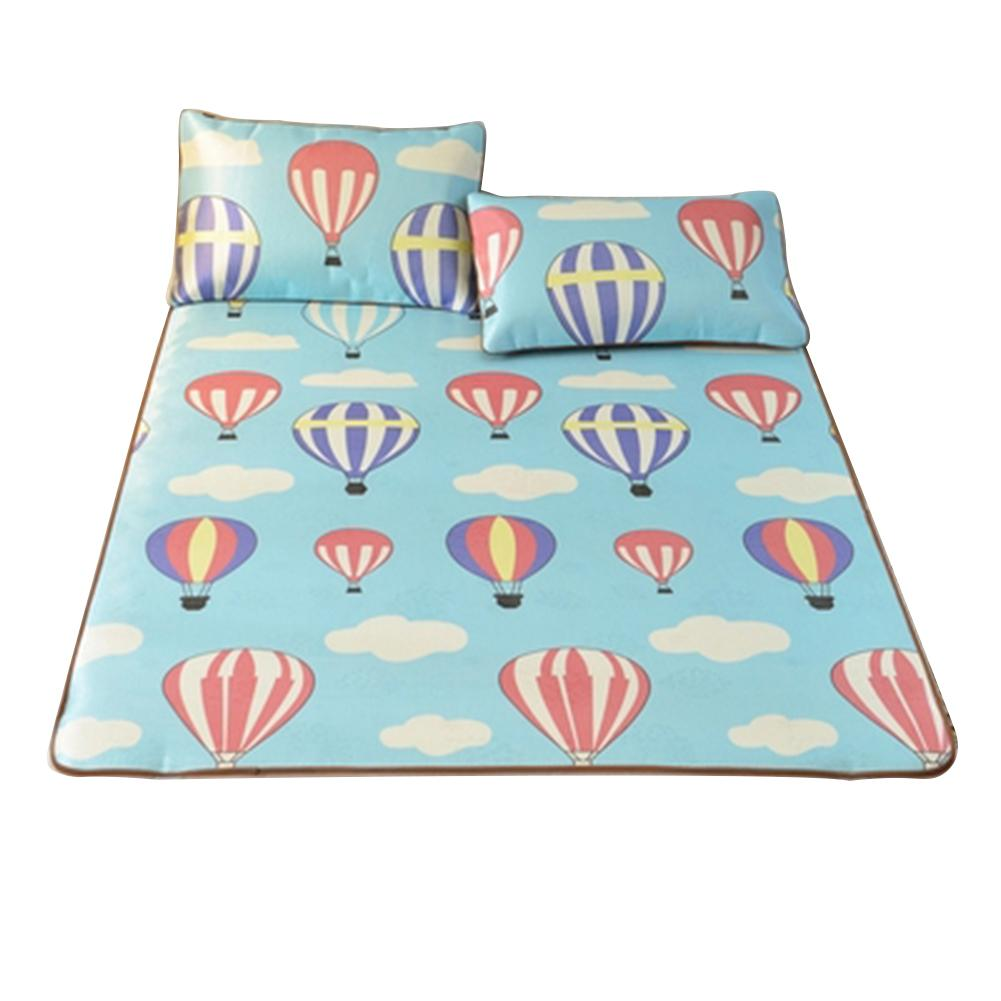 3D Hot Air Balloon Printed Mat Summer Foldable Cooling Mattress Pad Lightweight Breathable And Sweat-absorbent Home Bed Mat Kit