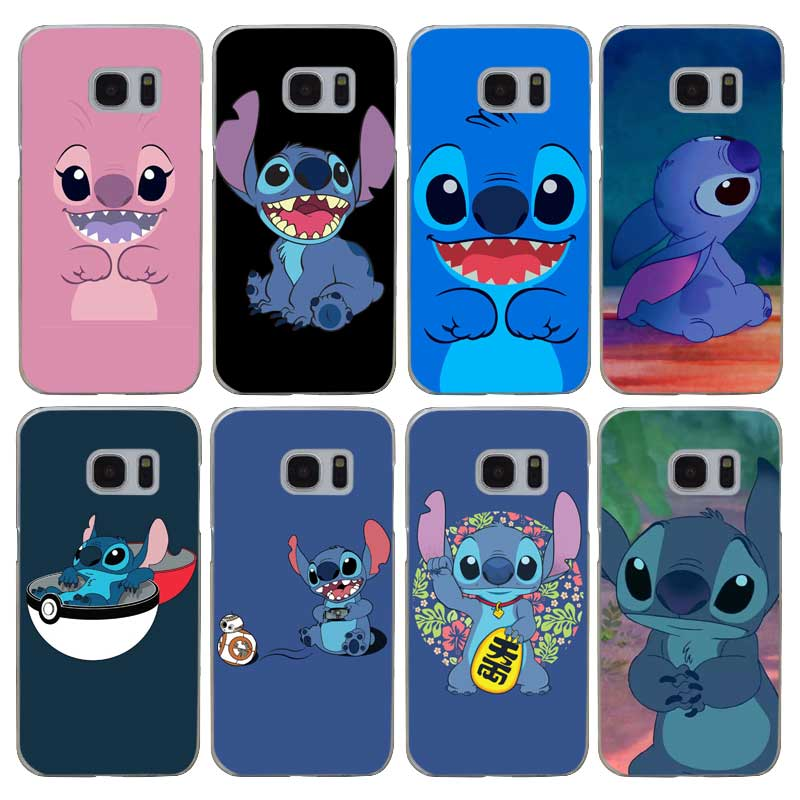 G535 Lilo And Stitch Transparent Hard PC Case Cover For Samsung Galaxy S 3 4 5 6 7 8 Min ...