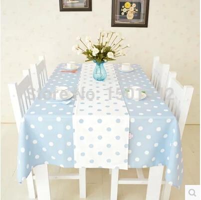 Free Shipping Light Blue Polka Dot Table Runners For Wedding Modern Table  Runner Elegant Tablecloth For