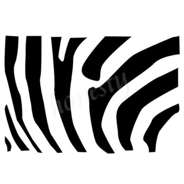 Zebra stripes wall home glass door window car sticker laptop auto truck black vinyl decal sticker