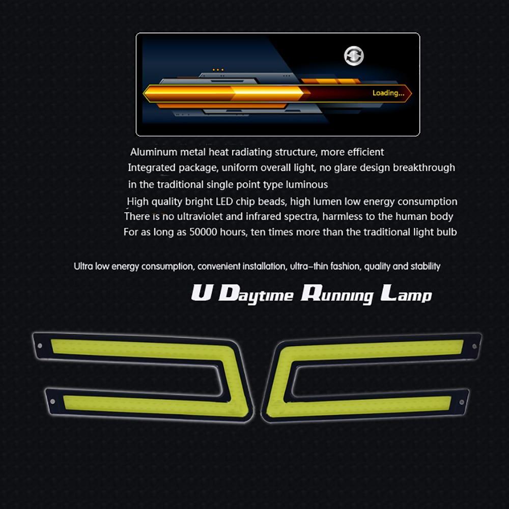 LVTUSI COB U formas DRL LED dienas gaitas gaismas LED automašīnu - Auto lukturi - Foto 6