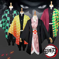 Anime Dämon Slayer Kimetsu keine Yaiba Cosplay Kostüm Kamado Tanjirou Kamado Nezuko Agatsuma Zenitsu Tomioka Giyuu Cosplay Kostüm