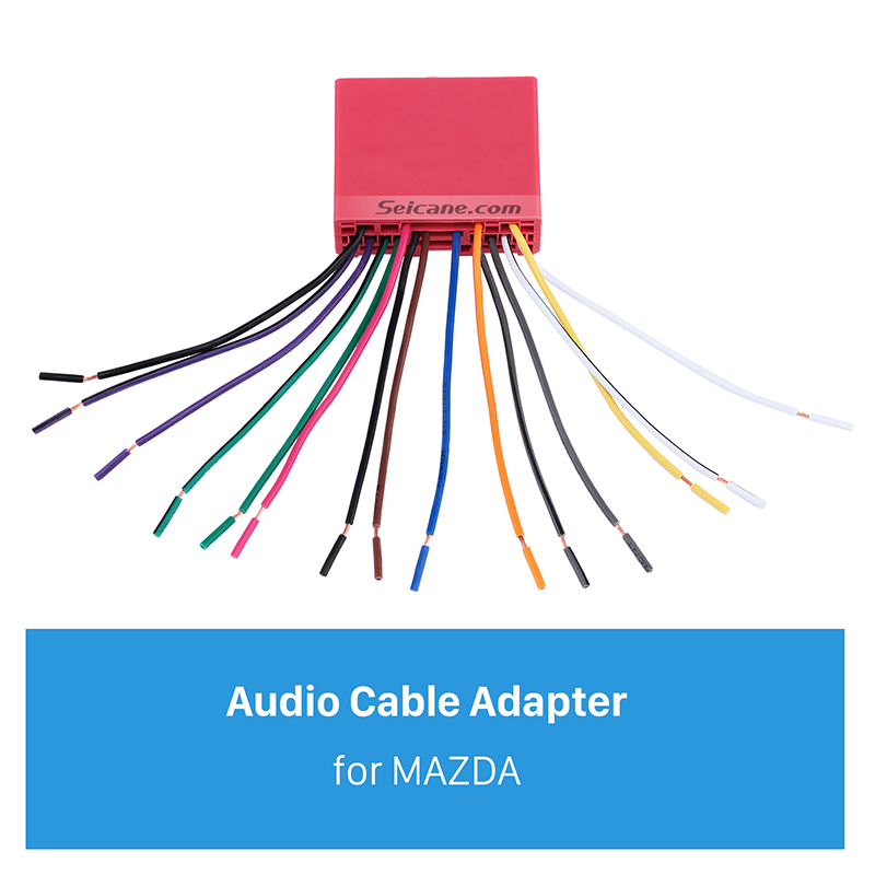 seicane audio cable sound wiring harness adapter for mazda. Black Bedroom Furniture Sets. Home Design Ideas