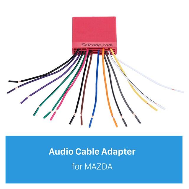us $4 67 40% off seicane audio cable sound wiring harness adapter for mazda family(old) mazda 6 mazda 3 mazda premacy(old) mazda 323 in speaker line Mazda 3 Tail Lights