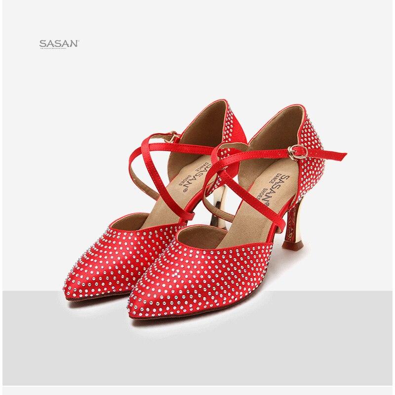 Femme baskets femme Satin Latin chaussures de danse femme printemps été amitié chaussures de danse semelle souple à talons hauts nouvelle chaussure s-128