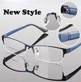 2016 Novos óculos óculos de metal Meia-rim armações de óculos para homens mulheres Miopia óculos de sol oculos 80001