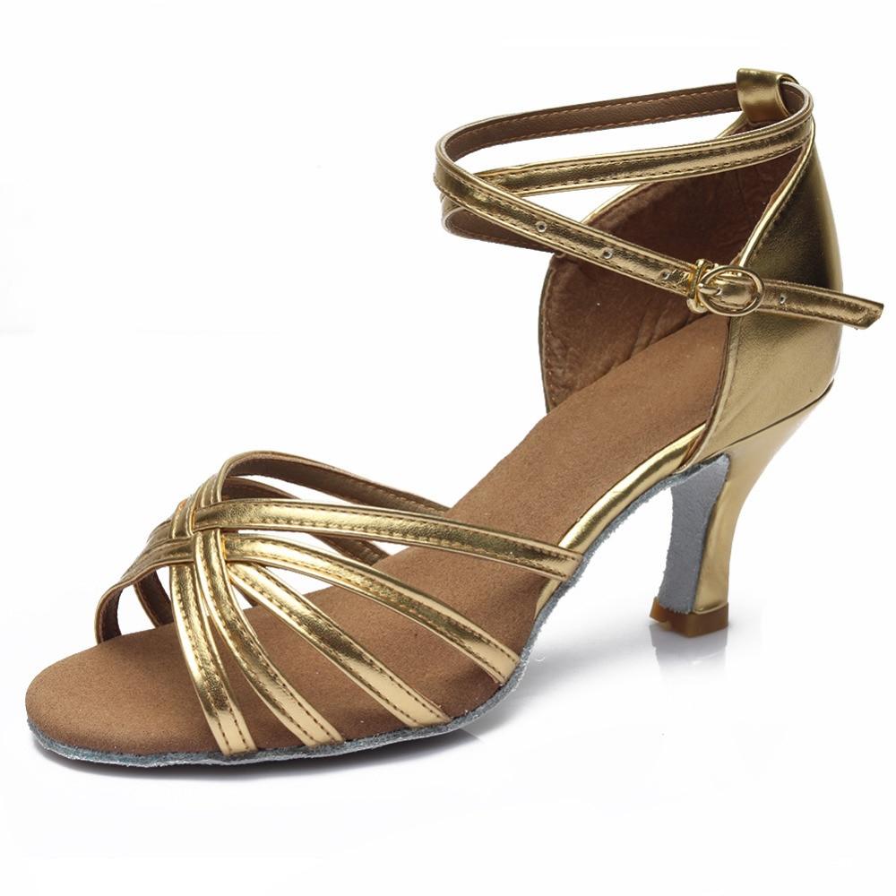 ¡Oferta! zapatos de baile profesionales para mujeres, zapatos de baile de salón, zapatos de baile latino para señoras, tacón de 5 CM/7 CM 3