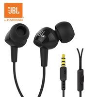 Original In Ear Bass Mobile Phone Headset JBL C100SI Earphone With Microphone 3 5mm Plug