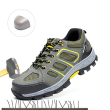2019 New Men's Steel Nose Safety Work Shoes Anti-smashing Anti-piercing Deodorant Breathable Protective Work Shoes Safety Boots