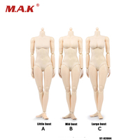1/6 Scale 12 Inches Xing Series Female Figures Bodies European White Color Movable Joints PVC Small Mid and Large Busts