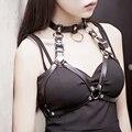 2017 New Sexy Mulheres Halter Strap Estilo Colares Handmade Cinto De Couro Y Arnês de Corpo Tiras de Bondage Gaiola