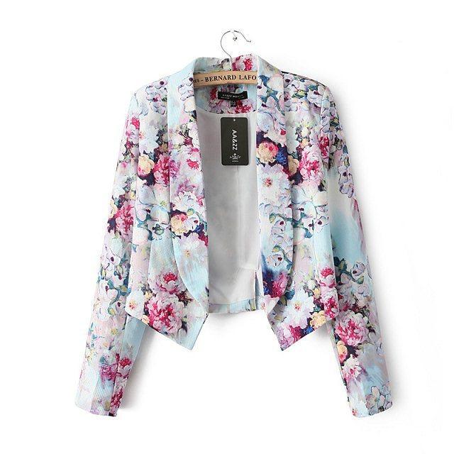 Aliexpress.com : Buy spring Floral print blazer women casual ...