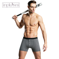 7a5a42cff Inplusni Men Underwear Boxers Fashion Home Boyshort Cotton Men Underwear In  The Waist And Long Boxer. Inplusni homens cueca boyshort algodão ...