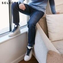 SELECTED Прямые джинсы для мужчин с шерстяной тканой смесью C