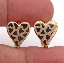 Luxury Hoop Earrings for Women Gold Color Heart shape Earring Trendy Jewelry for Wedding Engagement Anniversary Gift Cheap Price(China)