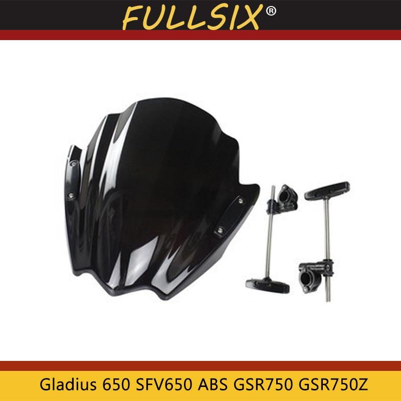 Motorcycle Windshield WindScreen Viser VIsor Front Glass For Suzuki Gladius 650 SFV650 ABS GSR750 GSR750Z GSR 750 2008