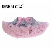 Новая модная пышная шифоновая юбка-американка юбка-пачка для маленьких девочек юбка принцессы балетная юбка-пачка для танцев для детей от 2 до 8 лет, 19 цветов