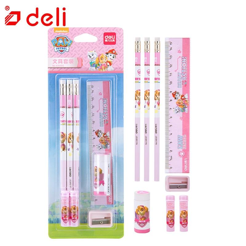 Pokemon Pencil Eraser Ruler School Supply Gift Stationery Set 8pcs Random