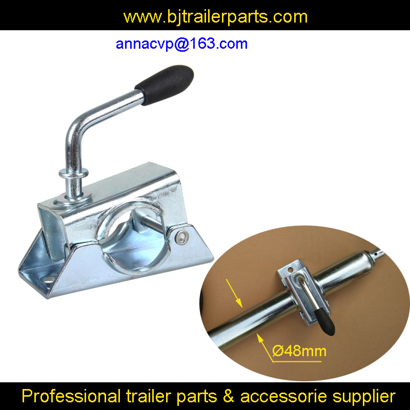 48mm clamp for trailer jockey wheel or prop stands, trailer jack, trailer jockey wheel clamp, trailer parts