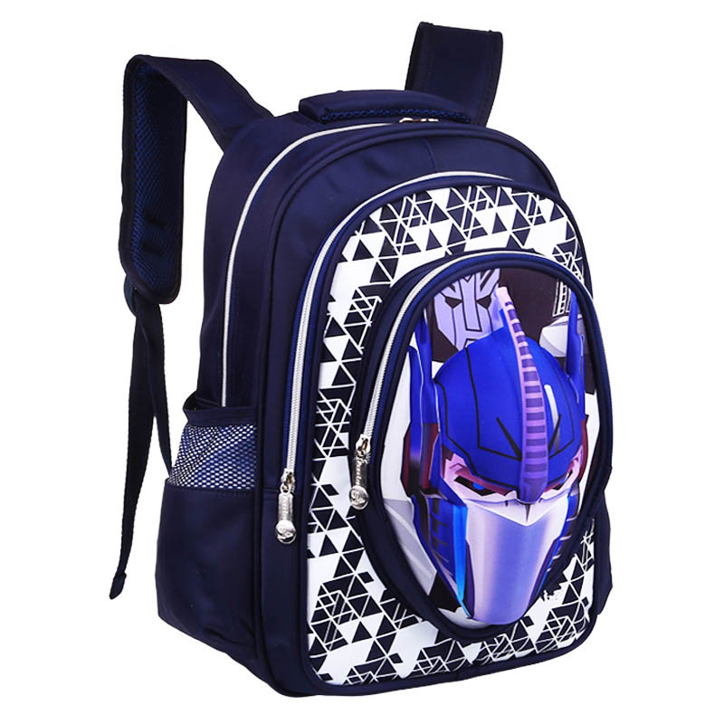 3D Cartoon Big Capacity Russia Style Orthopedic School bags For Boys Car Ultralight Waterproof Backpack Child