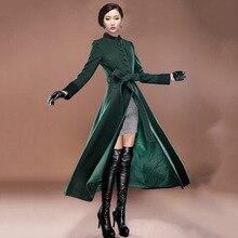 Sexy winter coats High-grade womens winter jackets and coats wool manteau femme women's cashmere coat long maxi cashmere  coat