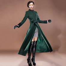 Sexy winter coats High-grade womens winter jackets and coats wool manteau femme women's cashmere coat long maxi cashmere  coat