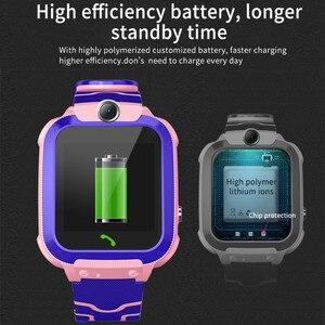 Image 5 - S12 Đồng Hồ Thông Minh Trẻ Em IP67 Thể Thao Chống Thấm Nước Đồng Hồ Thông Minh Android Trẻ Em Cuộc Gọi SOS Đồng Hồ Thông Minh Smartwatch với Camera Sim HD Cảm Ứng màn hình