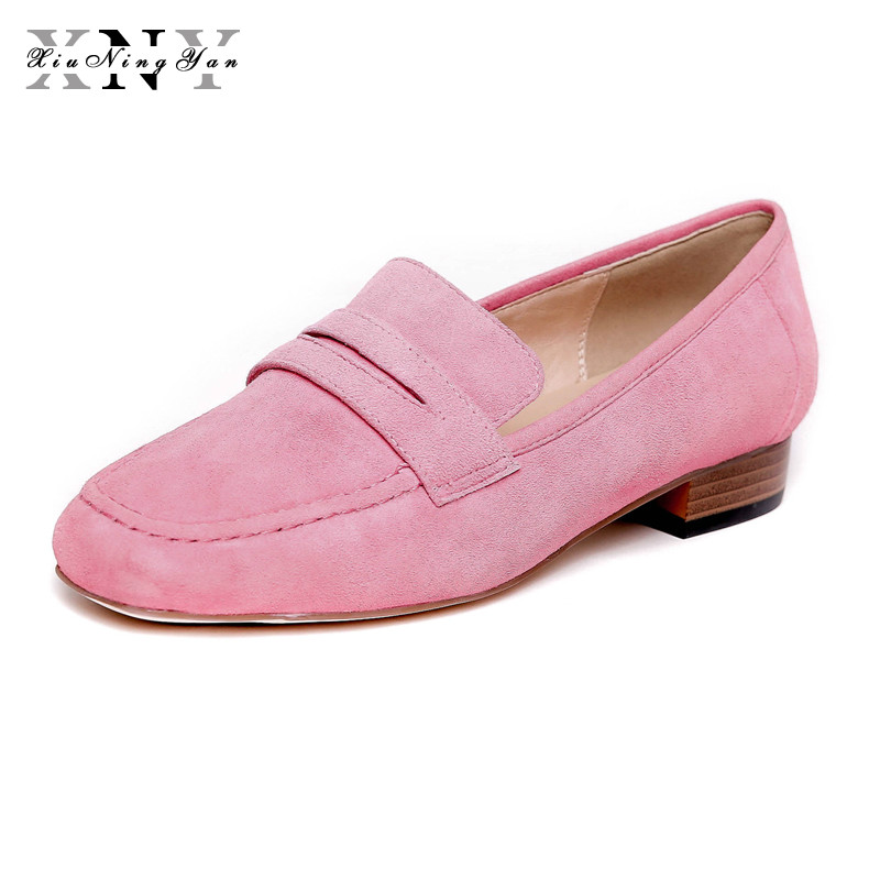 XIUNINGYAN 2018 Shoes Women Genuine Leather Women Flats Shoes Casual Loafers Slip on Women's Oxfords Moccasins Driving Shoes xiuningyan 2017 women oxfords patent leather flats shoes slip on handmade woman loafers yellow black casual shoes big size 33 48