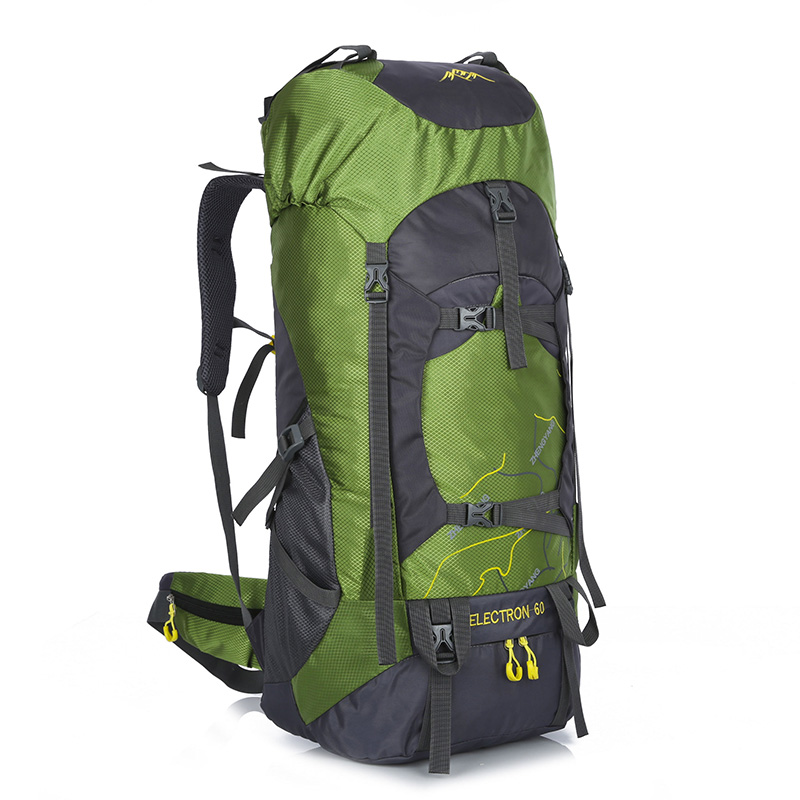 Sac à dos de randonnée de grande capacité 60L avec couverture de pluie sac à dos de montagne pliant imperméable sacs de Camping en plein air respirant 901