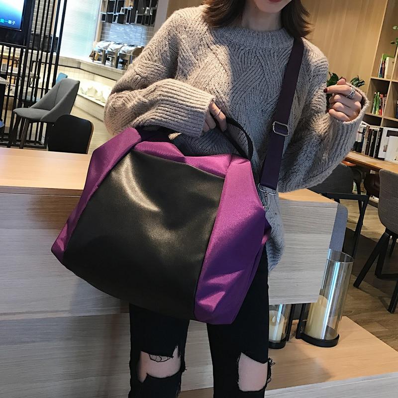 Large Capacity Women Beach Bags Shoulder Mummy Handbag WaterProof Nylon Folding Tote Long Large Capacious Shopping Bags 31