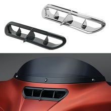 Motorcycle Outer Front Plastic Fairing Vent Accent For Harley Touring & Trike 14-18 Electra Street Glide Ultra Classic Limited motorcycle accessories front inner accent fairing buffer cushion pad harley electra street glide ultra custom