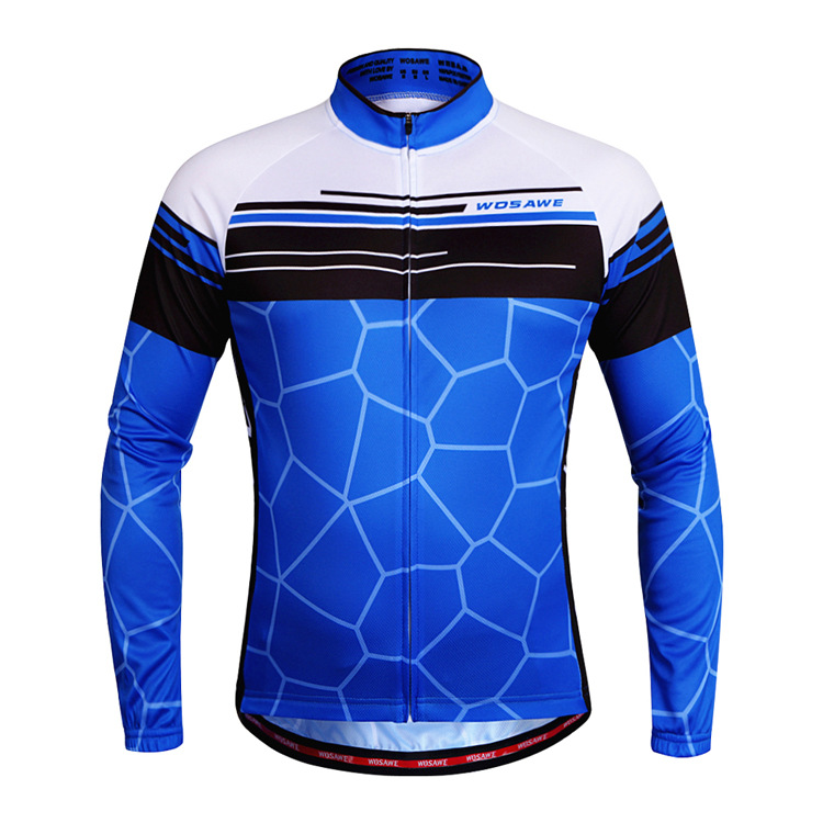 High Quality Cycling Jersey Long Sleeve Summer Cycling Clothing Maillot Ciclismo Mountain MTB Riding Clothes Manga Longa WOSAWE