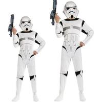 110 140cm New Child Boy Star Wars The Force Awakens Troopers Cosplay Fancy Dress Kids Halloween