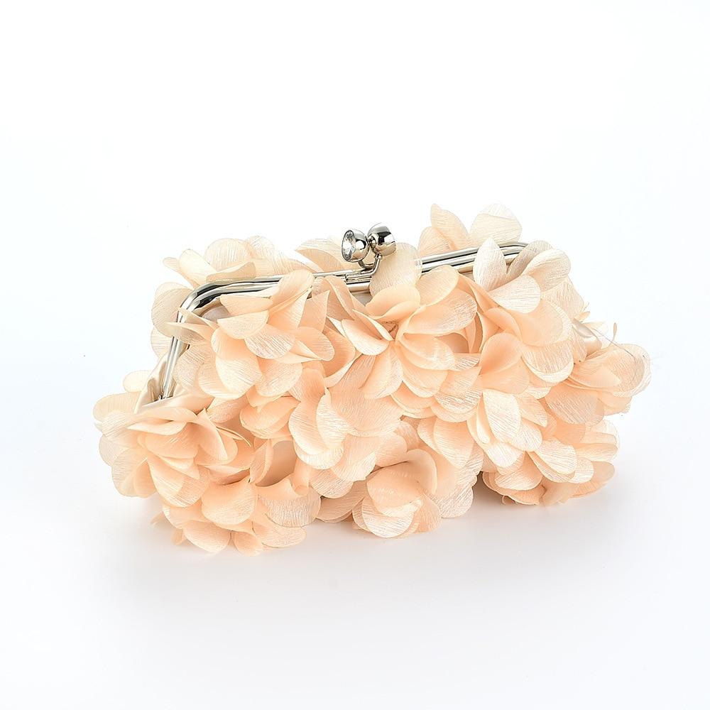 Nueva flor de cristal paquete de banquete bolso nupcial bolso de noche bolso del