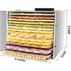 16 Layers Smart Commercial Large Fruit Dryer Electric Food Dehydrator Stainless Steel Vegetable Herb Snacks Drying Machine